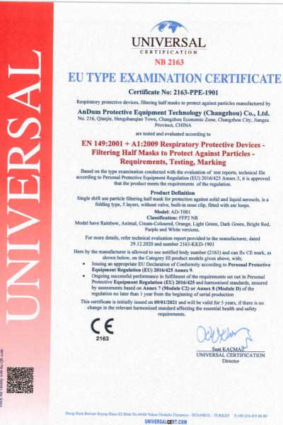 EU Type Examination Certificate