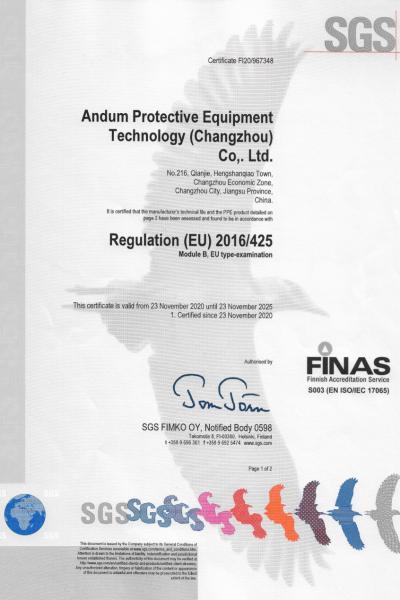 SGS CE B Certificate